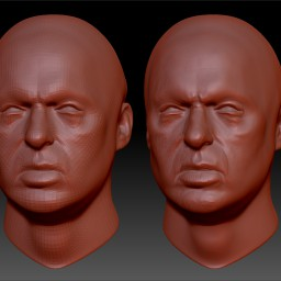 Micheal Keaton Face Sculpt