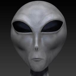 Zeta Reticulan Alien Face Closeup